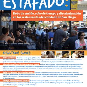 Estafado: Robo de sueldo, robo de tiempo y discriminación en los restaurantes del condado de San Diego (2015)