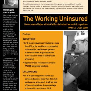 The Working Uninsured, Part 2 (2008)
