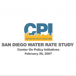 San Diego Water Rate Study (2007)