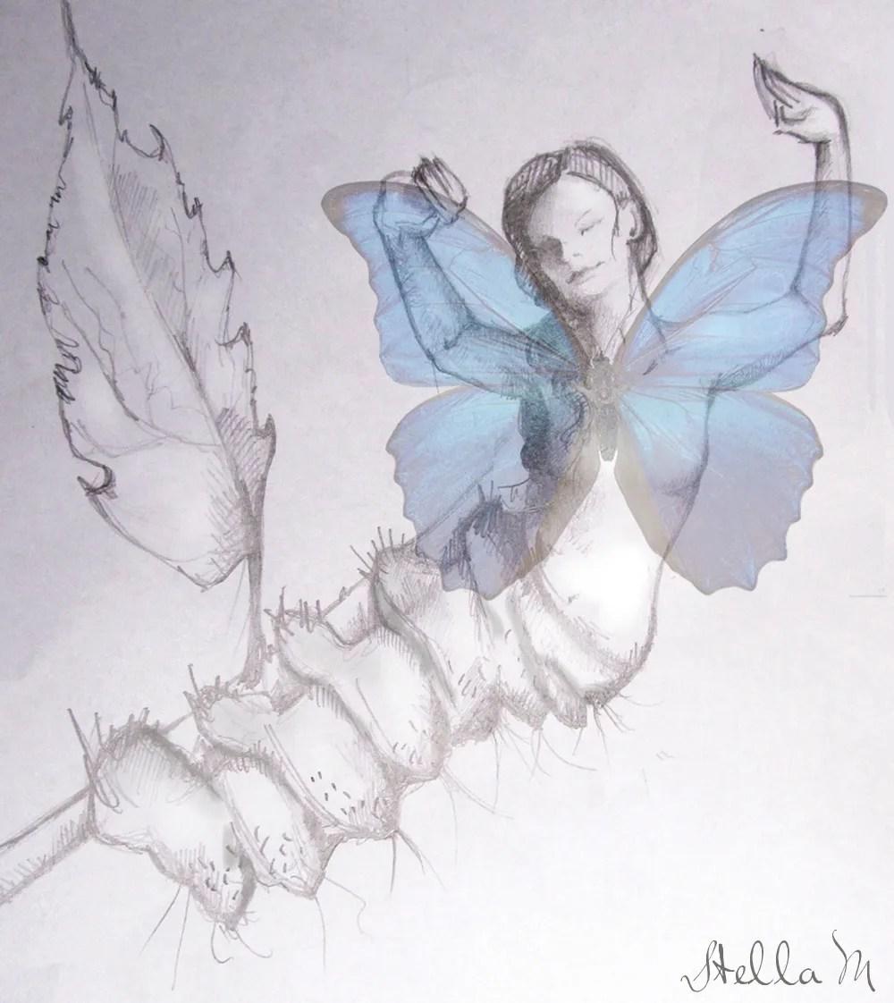 donna farfalla trasformazione metamorfosi cambiamento