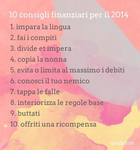 10 cose di soldi per il 2014
