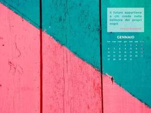 Calendario Desktop Scaricabile – Gennaio 2014