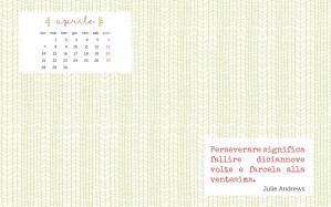 Calendario desktop scaricabile – Aprile