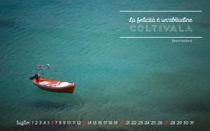 Calendario desktop scaricabile – Luglio