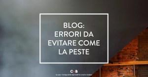 Cose da non fare mai sul tuo blog