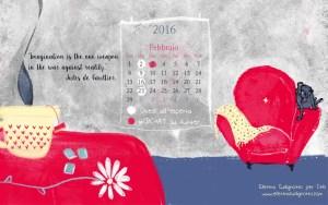 Calendario desktop scaricabile febbraio 2016