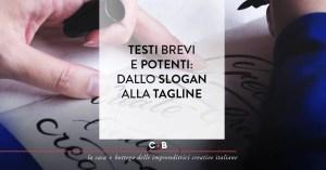 Testi brevi e potenti dallo slogan alla tagline