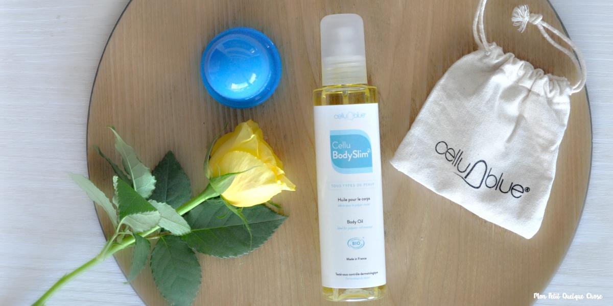 CelluBlue et son huile pour le corps, CelluBodySlim+