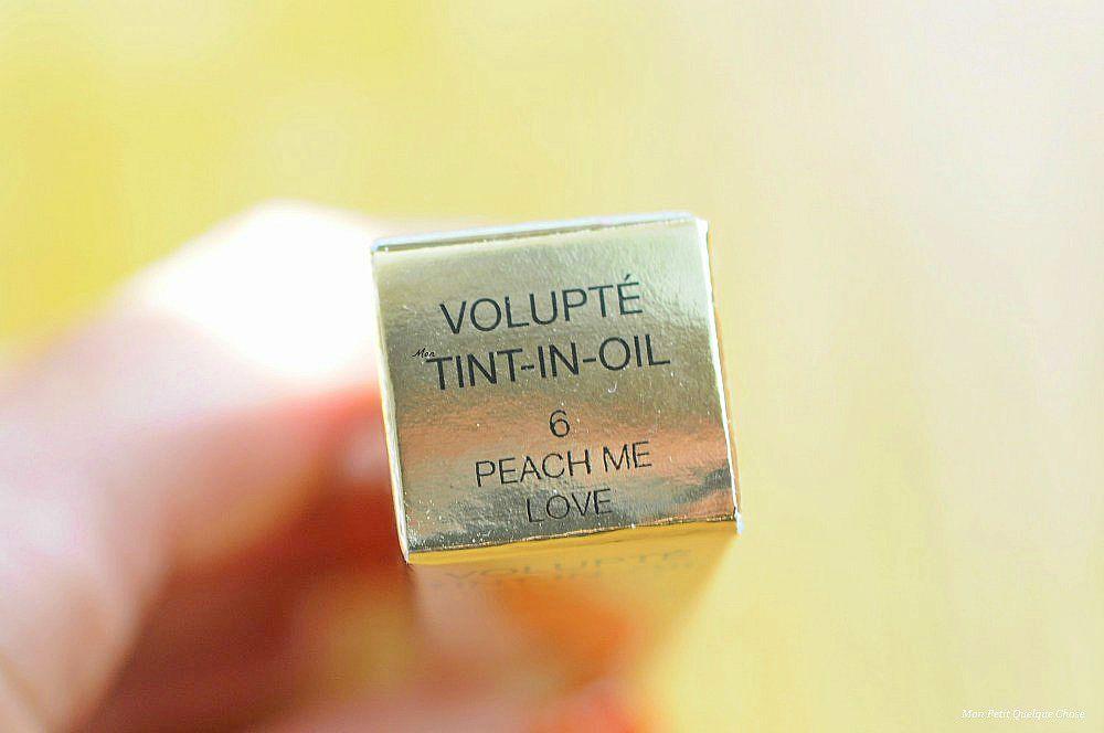 Peach Me Love d'YSL ou le Volupté Tint-In-Oil donne la pêche!- Mon Petit Quelque Chose