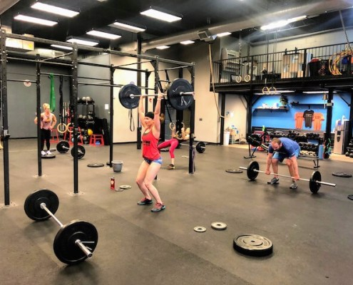 power snatches at CPM Fitness