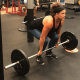Andrea doing a power clean