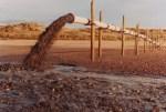 Rejet aérien avant enfouissage du tuyau de rejet des boues de dragage -Grande plage de St Gilles Croix de Vie
