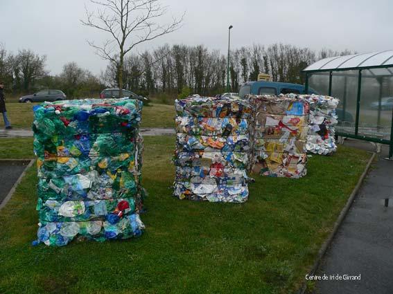 Plastiques compostés (centre de tri de Givrand)