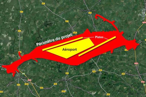 Aéroport de Notre-Dame-des-LandePérimètre du projet