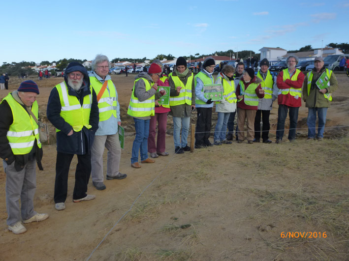 Brigade verte de l'APNO - Vendée-Globe 2016 prise par MF Simonnet, présidente CPNS