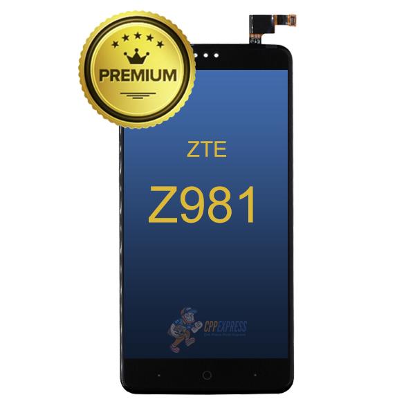 ZTE-Z981-LCD-Assembly-W-Frame-Black