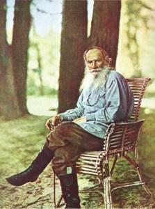 С.М.Прокудин-Горский. Граф Л.Н.Толстой. Снято 23 мая 1908 г. Ясная Поляна.