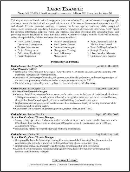 Executive Protection Resume Examples