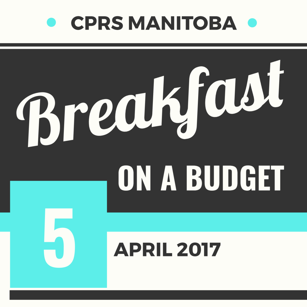 Breakfast on a Budget: A panel discussion on public engagement in parlimentary, legislative and civil affairs   April 5 at 7:30 a.m.