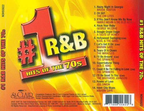 Number 1 R&B Hits Of The 70s - Various Artists