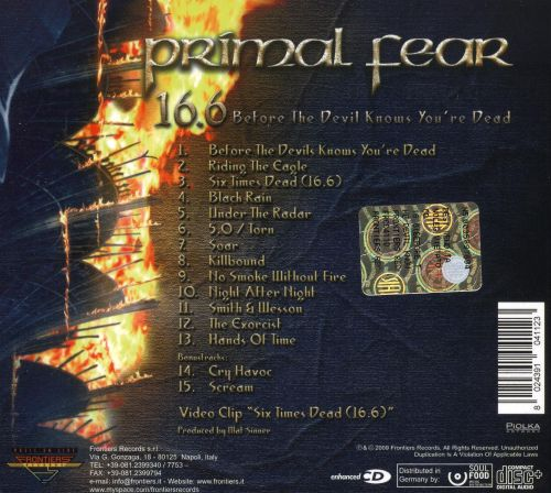 16.6: Before the Devil Knows You're Dead - Primal Fear ...