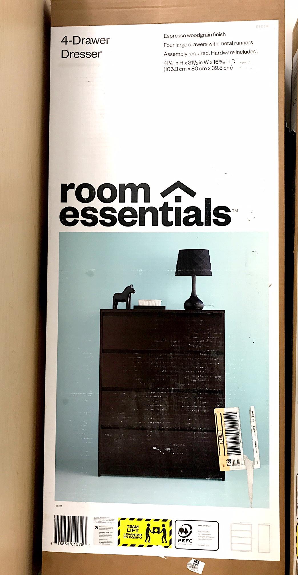 Target Recalls Room Essentials 4 Drawer Dressers Due To