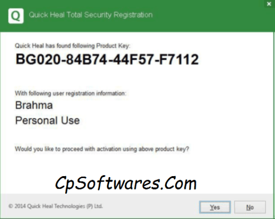 Quick Heal Total Security 2018 Product Key