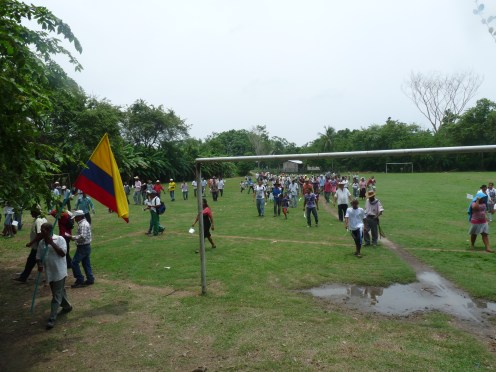 On Wednesday April 4th the people of Garzal came to receive titles to their land.