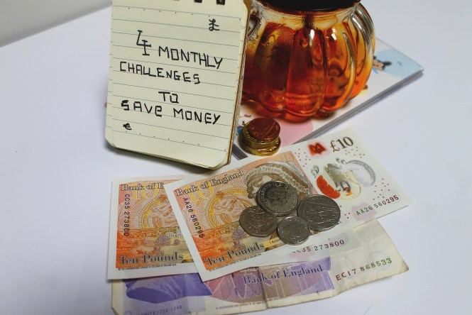 4 monthly challenges to save money
