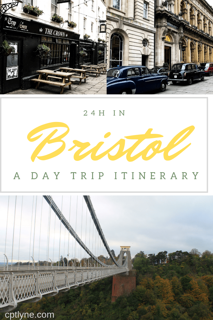 Would you like to visit Bristol? If one day is all you have to visit this colourful and quirky city then I got you covered you can explore this big city and see its landmarks from the Cathedral to Clifton Suspension Bridge with its beautiful street art and more in one day with my day trip itinerary! Discover the charm of South West England with this major city on your travel! #bristol #england #traveldestination