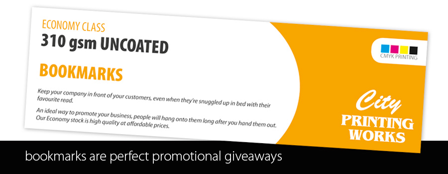 Custom Printed Promotional Bookmarks - City Printing Works