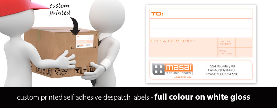 Glossy Full Colour Despatch Labels - Custom Printed at City Printing Works