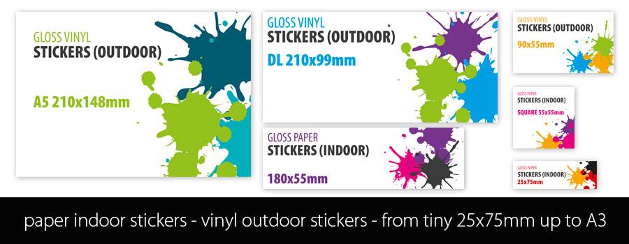 Stickers - Custom Printed at City Printing Works