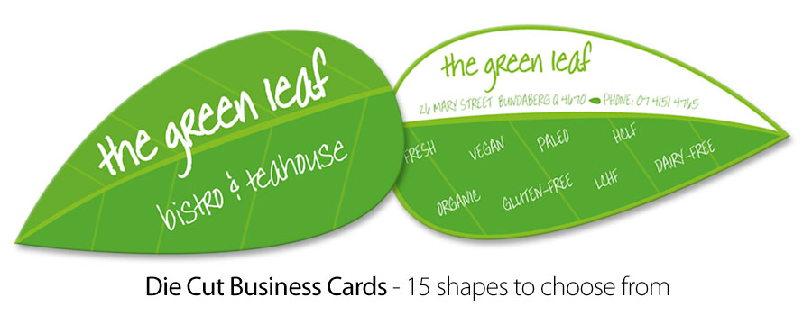 Die Cut Business Cards - City Printing Works