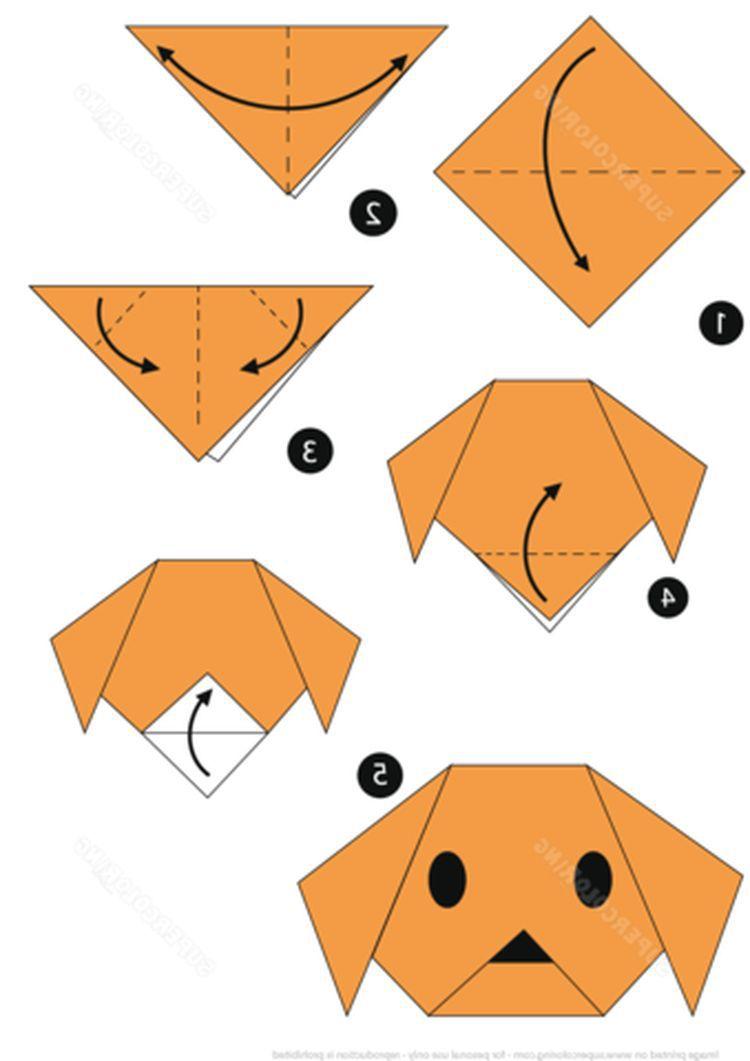 Stwórz Psa Własnymi Rękami Z Papieru Etapami Jak Etapami Wyciągnąć Psa Z Papieru Własnymi Rękami Pies Z Kolorowego Papieru