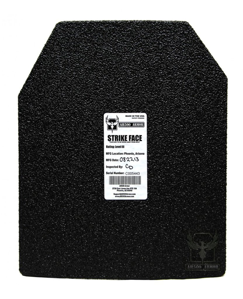 AR500 Armor® Plate Patented Advanced Shooters Cut (ASC) – 10″x 12″