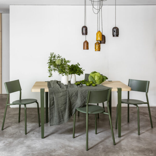chaise ssdr vert romarin tiptoe plastique recyclé 5