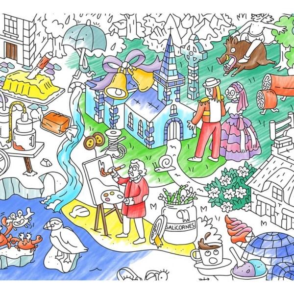 Poster géant à colorier Bretagne