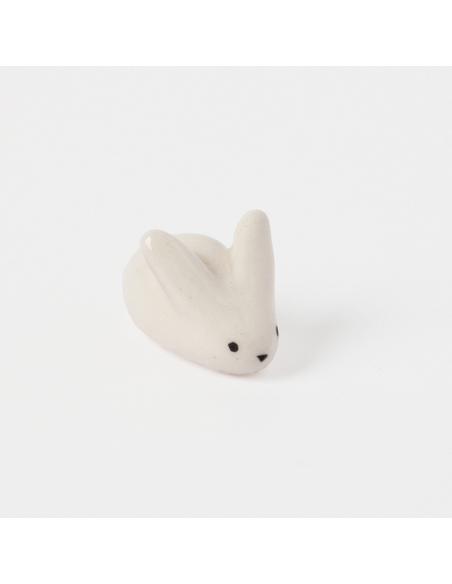 Mini lapin blanc en faïence