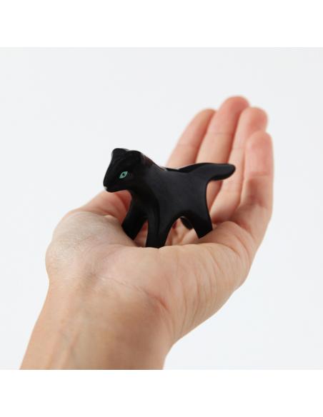 Mini panthère noire en faïence