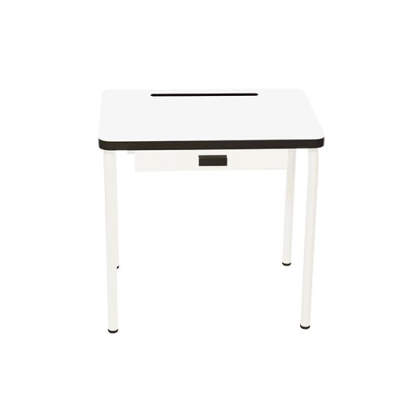 Bureau d'écolier en formica Régine – Blanc
