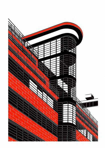 Affiche Hélène Lacombe – Building