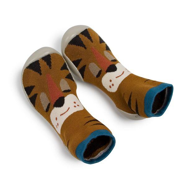 Chaussons en coton et semelle antidérapante – Tigrou