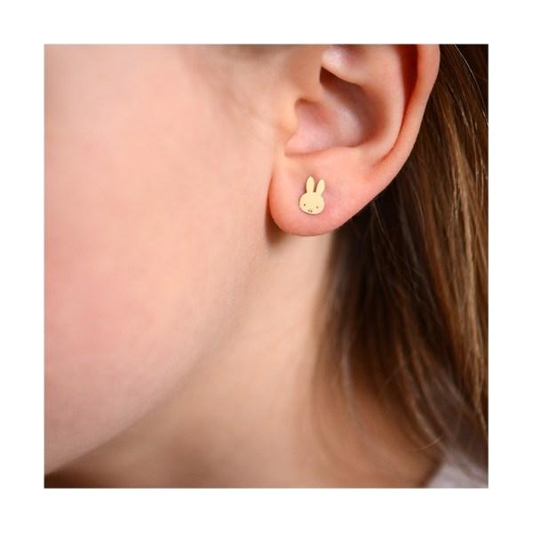 Boucles d'oreilles Miffy Doré