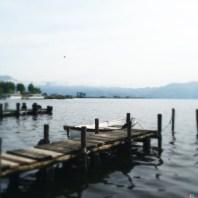 Con mezz'ora d'anticipo sul orario di ritrovo mi sono goduto in pace il silenzio del lago.