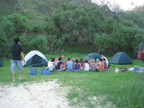 Camping on Fraser Island
