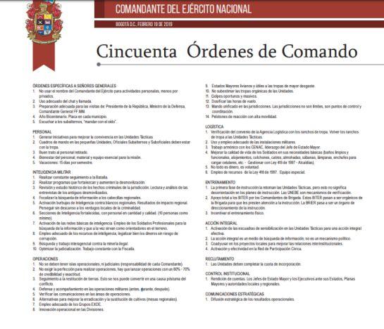 Los documentos que tienen en el ojo del huracán al comandante del Ejército