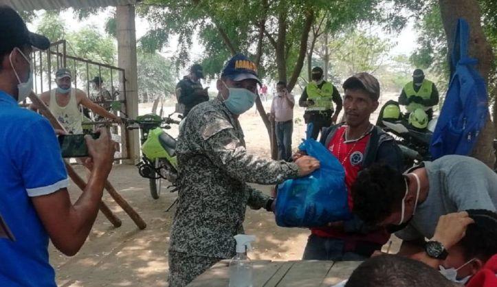 Ayudas humanitarias Coronavirus en Bolívar: Armada entrega 250 ...