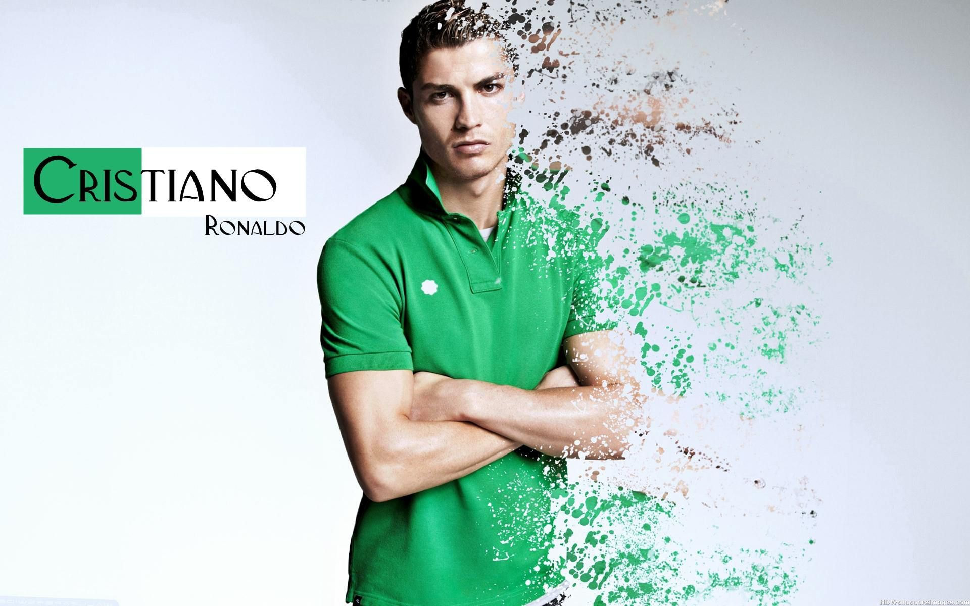 cristiano ronaldo in green shirt wallpaper - cristiano ronaldo