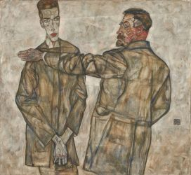 Egon Schiele: Double portrait of Heinrich and Otto Benesch, 1913, LENTOS Kunstmuseum, Linz - photo: LENTOS Kunstmuseum